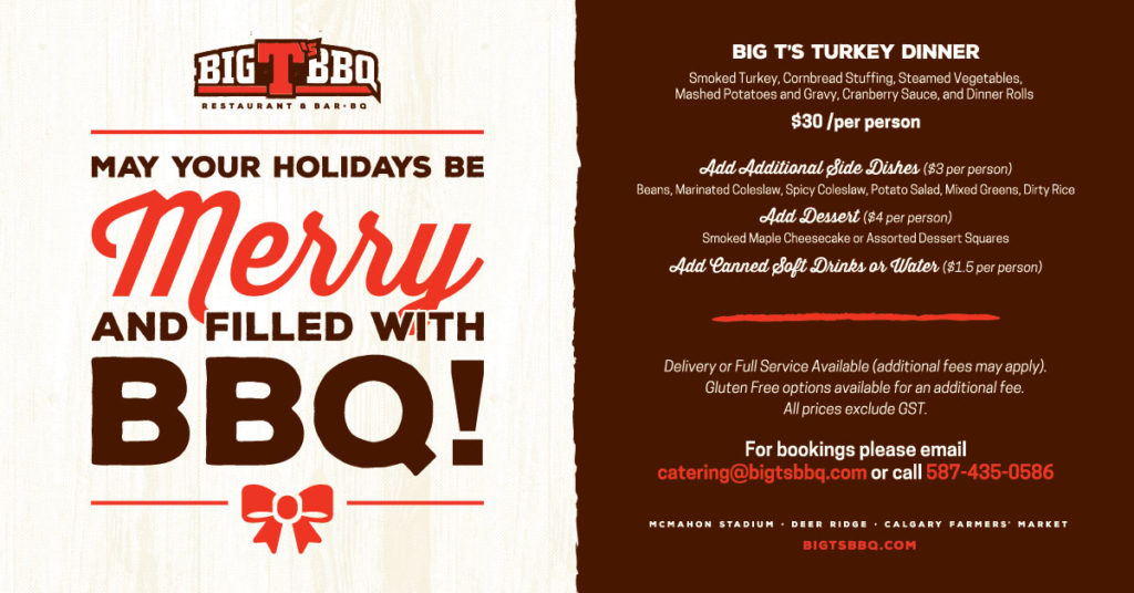 MAY YOU HOLIDAYS BE MERRY AND FILLED WITH BBQ!